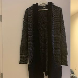 Super cozy long cardigan with hood